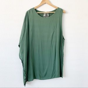 Young Fabulous & Broke Green Asymetric Shift Dress